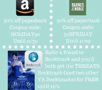 Black Friday: 30% off paperbacks, FREE Booktrack, free audio!
